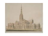 South East View of the Salisbury Cathedral and Chapter House, 1803 Giclee Print by John Buckler