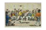 Sparring, 1817 Giclee Print by Isaac Robert Cruikshank