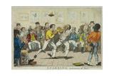 Sparring, 1817 Giclee Print by Isaac Robert Cruikshank