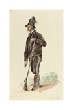 Italian Hunter, 1830 Giclee Print by Carl Wilhelm Goetzloff
