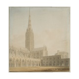 Salisbury Cathedral from the South West Giclee Print by John Buckler