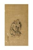 Kanzan and Jittoku, Kano School Giclee Print by Kano Yasunobu