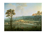 A View of Chatsworth from the South-West Lámina giclée por Thomas Smith of Derby