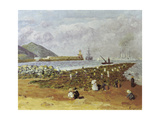 The Breakwater Giclee Print by Diario Or Dario De Regoyos Y Valdes