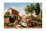 Lunch on the Field, 18th Century Giclee Print by Francisco Bayeu Y Subias