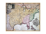 Map of Louisiana and Mississippi, C.1720 Giclee Print by Johann Baptista Homann