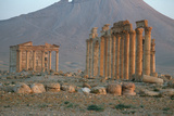 The Colonnaded Central Street with a 2nd Century A.D. Funerary Temple Photographic Print