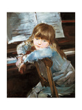 Girl before the Piano, Late C19th Giclee Print by Francisco Torrescassana