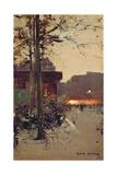 Paris by Evening Giclee Print by Luigi Loir