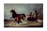 The Empress Elizabeth in a Sledge Giclee Print by Alexander Ivanovich Sauerweid