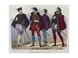 Gentlemen in the Year 1572 Giclee Print by after Chevignard