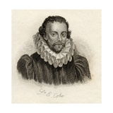 Sir Edward Coke, from 'Crabb's Historical Dictionary', Published 1825 Lámina giclée