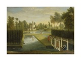 View Towards the Rear of the Bagnio from South of the Upper River, Chiswick House Giclee Print by Pieter Andreas Rysbrack