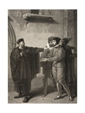 Venice, a Street, Act III, Scene III, from 'The Merchant of Venice', from the Boydell Shakespeare… Giclee Print by Richard Westall