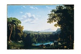 The English Garden of Caserta with Views of Vesuvius, 1797 Giclee Print by Jacob-Philippe Hackert