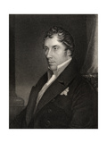 George Hamilton Gordon, Engraved by Thomas Woolnoth (1785-1857) from 'National Portrait Gallery,… Giclee Print by Abraham Wivell