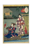 Kararabi, No. 27 in the Series 'Murasaki Shikibu Genji Cards', 1857 Giclee Print by Utagawa Kunisada II