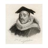 Sir Thomas De Littleton, from 'Crabb's Historical Dictionary', Published 1825 Lámina giclée