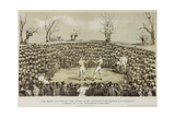 The Great Fight Between Tom Sayers and J.C. Heenen at Farnborough, 17th April 1860, Engraved by… Giclee Print by James Ward
