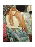 Woman Combing Her Hair, 1889 Giclee Print by Louis Anquetin