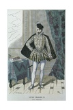 King Charles IX of France (1550-74), C.1565, Engraved by Chevrolat Giclee Print by after Chevignard
