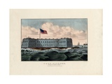 Fort Pickens: Pensacola Harbor, Florida, Pub. by Currier and Ives, C.1865 Giclee Print