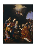 The Adoration of the Magi Giclée-tryk af Carlo Dolci