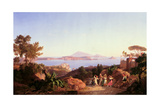 View of the Gulf of Pozzuoli with Mount Solfatara, C.1830 Giclee Print by Carl Wilhelm Goetzloff