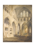East End of the Nave, Salisbury Cathedral, 1797 Giclee Print by J. M. W. Turner