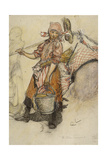 Washerwoman Giclee Print by Carl Larsson