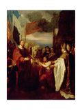 Presentation of the Crown to William I Giclee Print by Benjamin West