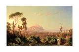 Palermo with Mount Pellegrino, C.1850 Giclee Print by Carl Wilhelm Goetzloff