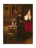 Woman with a Carnation Giclee Print by Alfred Emile Stevens