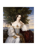 Marriage Portrait of Charlotte De Rothschild, 1836 Giclee Print by Moritz Daniel Oppenheim