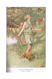 Diana and the Nymphs, Illustration from 'The Book of Myths' Giclee Print by William Sewell