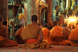 Interior with Meditating Monks, Pha That Luang Photographic Print
