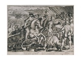 Victory of Charles V over Francis I of France in the Battle of Pavia, 24th February 1525, from… Giclee Print by Antonio Tempesta