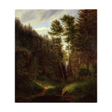 Clearing in the Uttenwald Region, 1820 Giclee Print by Carl Wilhelm Goetzloff