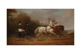 Tsar Alexander I Driving a Droschki Giclee Print by Alexander Ivanovich Sauerweid