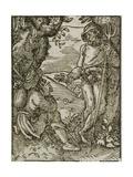 A Farmer, Published by Sigmund Feyerabend, Frankfurt, 1568 Giclee Print by Jost Amman