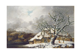 A Winter Landscape, 1752 Giclee Print by George, of Chichester Smith