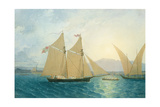 The Launch 'La Sociere' on the Lake of Geneva Giclee Print by Francis Danby
