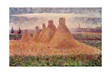 Straw Stacks Giclee Print by Georges Seurat