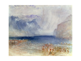 The First Steamer on the Lake of Lucerne in 1841 Giclee Print by Joseph Mallord William Turner