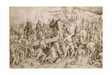 Christ Carrying His Cross Giclee Print by Israhel van, the Elder Meckenem