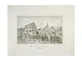 Martin Luther's Ancestral Home in Moehra, Printed by C. Rohlacher Giclée-Druck von C. Hertel