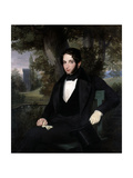 Marriage Portrait of Lionel Nathan Rothschild, 1836 Giclee Print by Moritz Daniel Oppenheim