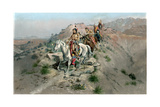 On the Warpath, 1895 Giclee Print by Charles Marion Russell