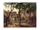 Farmyard Near Sorrento, 1827 Giclee Print by Carl Wilhelm Goetzloff