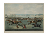 Ascot - Oatlands Sweepstakes, Engraved by J.W. Edy (Fl. 1780-1820), Published in 1792 Giclee Print by John Nott Sartorius
